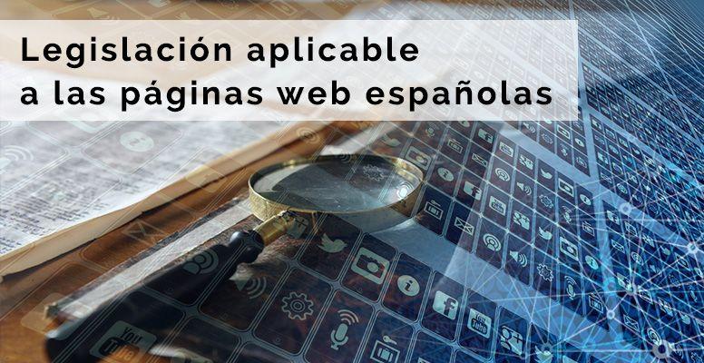 Legislación aplicable a las páginas web españolas