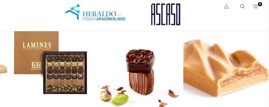 Pastelería Ascaso mejor ecommerce en los IV Premios Aragón en la Red