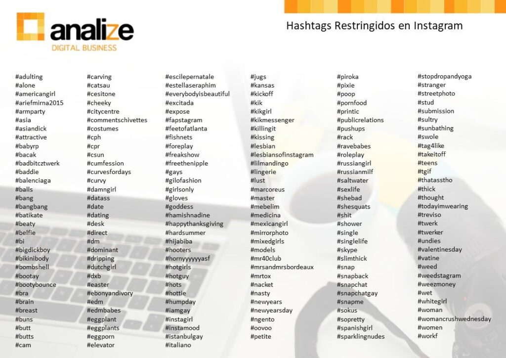 hashtags restringidos en Instagram