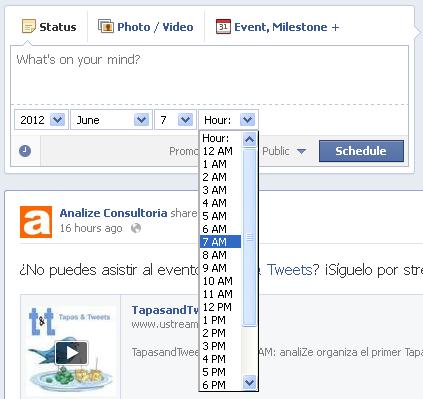 Programar publicaciones en paginas de Facebook