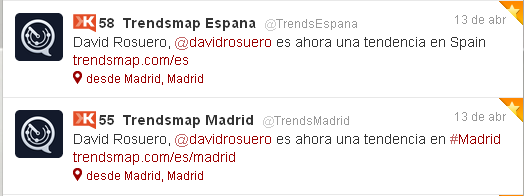 tweets trendsmap David Rosuero