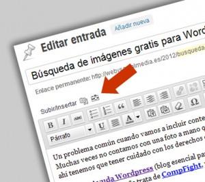 Búsqueda de imágenes gratis en wordpress