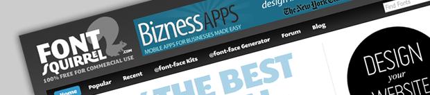 Uso de tipografías atractivas y gratis en web. Font Squirrel