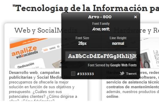 Averigua cuál es la tipografía de un sitio web con WhatFont